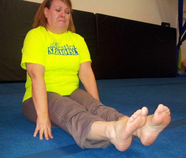 feet off the floor