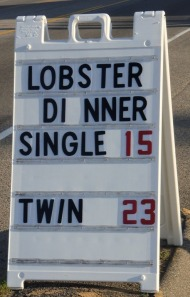 Lobster sign