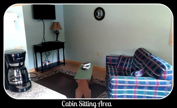 Feeder Creek Cabin Sitting Area