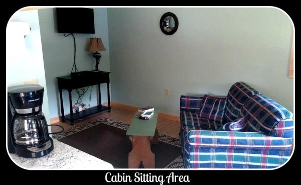 Feeder Creek Cabin Sitting Area