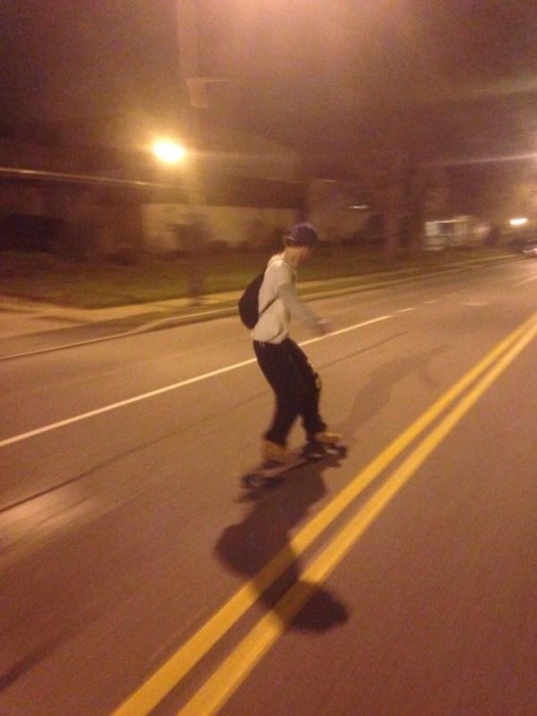 joe longboarding