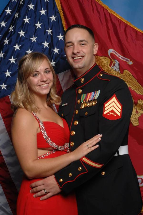 Sarah and Preston USMC ball