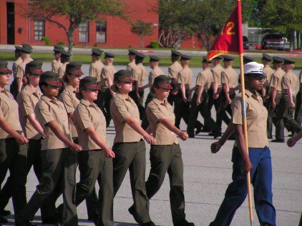 Sarah USMC marching